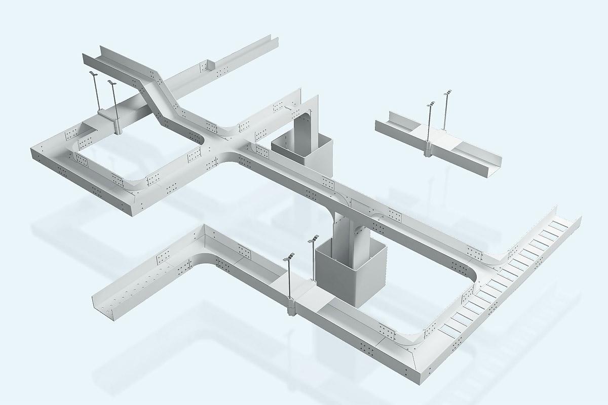 Macromolecule alloy cable tray 2